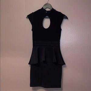 Forever 21 black peplum dress